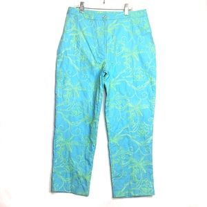 Lilly Pulitzer Embroidered Palm Tree Capris